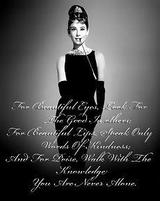 Audrey Hepburn You Are Never Alone Pop Art Canvas 16 x 20