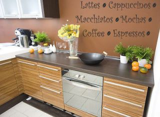 COFFEE KITCHEN VINYL WALL QUOTE DECAL STICKER ART DECOR Wall
