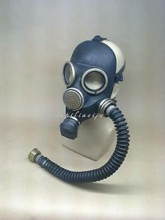 black gas mask gp 7 large with tube hose from