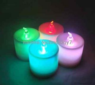 Rainbow Multi Color Changing LED Tealights LED Candles lights Set of 4