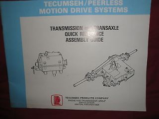 tecumseh peerless motion drive systems transmission transaxle assembly