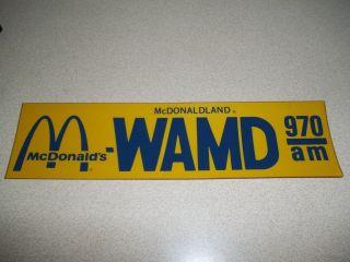 VINTAGE McDONALDS WAMD McDONALDLAND WAMD 970 RADIO STATION BUMPER
