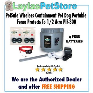 PetSafe PIF300 Wireless Containment Pet Dog Portable Fence Protects To