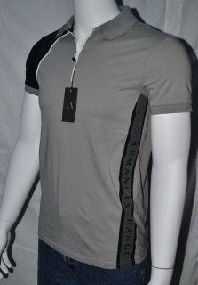 armani exchange polo shirt men ax gray black m l s