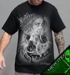 AUTHENTIC SULLEN CLOTHING WIND BLOWN PUNK GOTH TATTOO ART SHIRT M