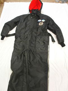Rare Vintage Arctic Cat Snowmobile Snow Suit Size Large w/ Belt & Hood