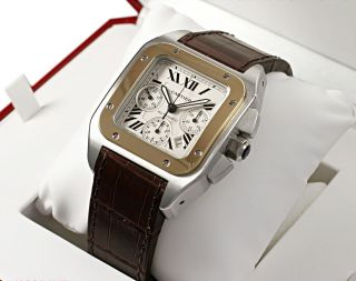 CARTIER Santos 100 AUTOMATIC Chronograph Gents Watch W20091X7 RRP £