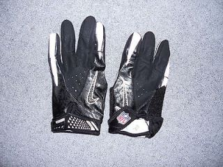 Black Nike NFL Equipment Vapor Carbon Football Gloves Mens Size Large
