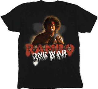 rambo one war one man stallone t shirt xxl