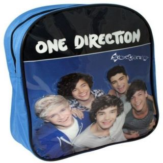 official 1d one direction school backpack rucksack bag blue time