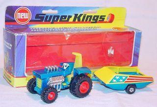 Matchbox Super Kings LIEDO MOD Dragster TRACTOR + Custom TRAILER K 3