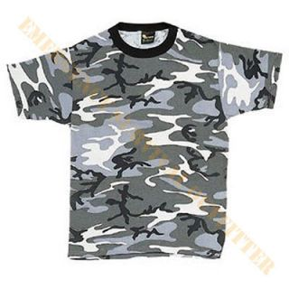 Adult T Shirt Gray Urban Camouflage Grey City Fashion Camo Tee