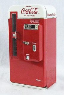 Retro Coke Coca Cola Cooler Vending Machine Musical Bank CK33090