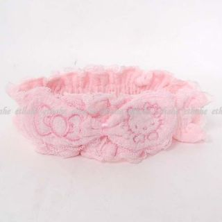 Hello Kitty Girls Plush Bowknot Bath Headband Hairband Hair Holder