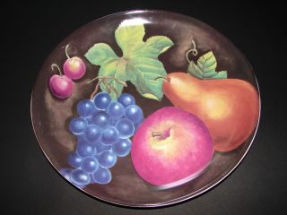 Eden Furio Home Oval Dinner Plate 11.25 Fruit Apple Pear Grape