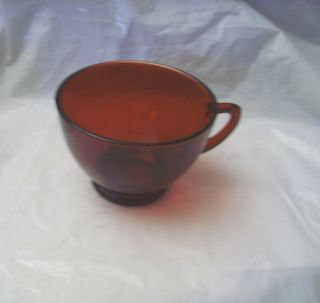 Elegant Vintage Ruby Red Glass Coffee Tea Cup NICE Anchor Hocking