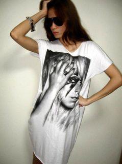 lady gaga paparazzi electronic pop rock long dress t shirt l
