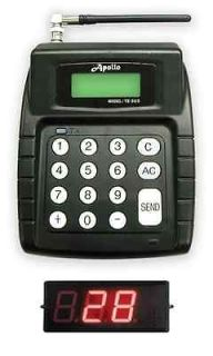 Apollo Wireless LED Ticket Number Paging Pager System   Restaurants