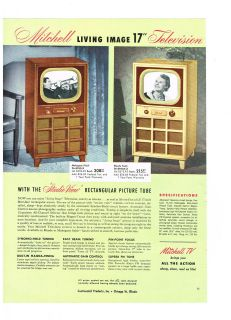 AD MITCHELL STUDIO VIEW TELEVISIONS, TABLE MODEL AND PORTABLE RADIOS