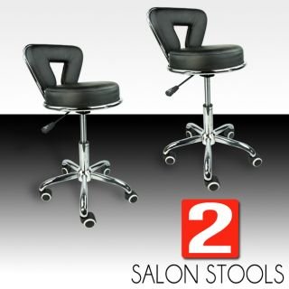 Newly listed 2 Salon Stool w/ Back Clinic Doctor Dentist Spa Equipment