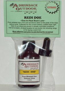adirondack redi doe doe in heat estrous buck lure bottles
