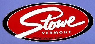 stowe vermont ski snowboard area sticker decal