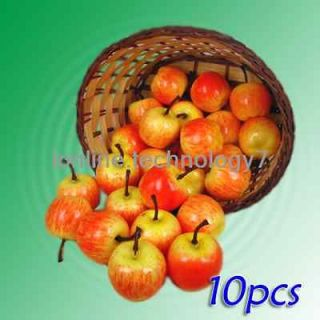 10 pcs Small Red Apples fake fruit faux food kitchen house party