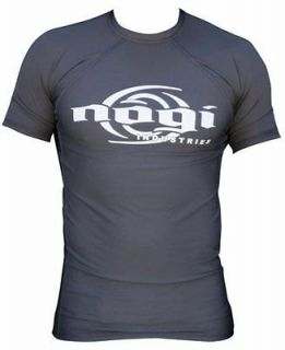Nogi Classic Charcoal Short Sleeve Rashguard   mma bjj jiu jitsu