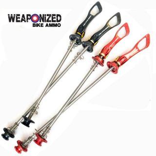 weaponized pro titanium qr wheel skewers road bikes more options