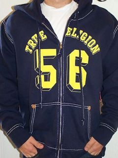NWT TRUE RELIGION MENS Zip Front Hoodie Sweatshirt Coat SIZE 2X./.XXL