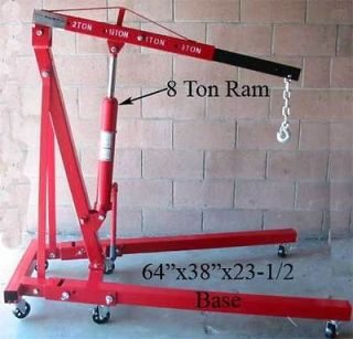 Newly listed 4000 LBS Engine Cherry Picker Hoist Shop Crane 2 Ton