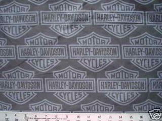 biker black harley davidson logo quilt fabric 38 x40  20 95
