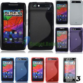 Newly listed 5X COVER GEL TPU CASE+SCREEN PROTECTOR FOR.Motorola Droid