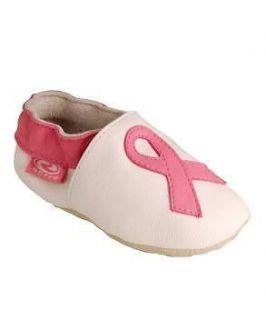 Roper Breast Cancer Awareness White & Pink Ribbon Booties Newborn