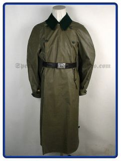 ww2 german fieldgrey rubberized motorcycle coat xl latest editon