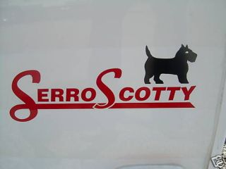 serro scotty campers small decal  15 00