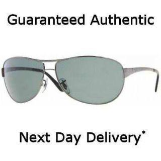 Ray Ban Warrior Gunmetal G13 Green Sunglasses RB 3342 004 63mm