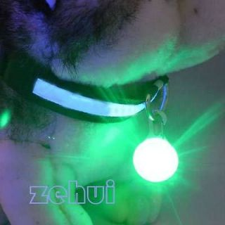 Safety Light Pet Dog Collar Puppy Led Night Light Circular Pendant 5