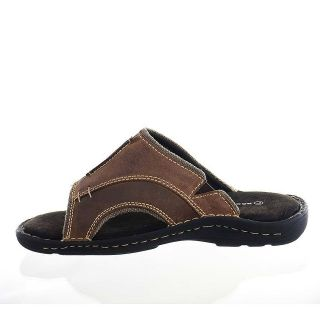 ... rockport mens slide sandals hempstead brown leather one day shipping ...