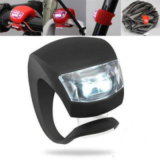 Bike Bicycle Black Silicone Beetle Frog Warning Front / Rear Lights