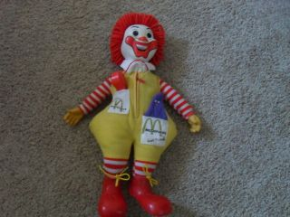 Ronald MCDONALD Stuffed Vintage Plush 1978 Grimmace Doll Great