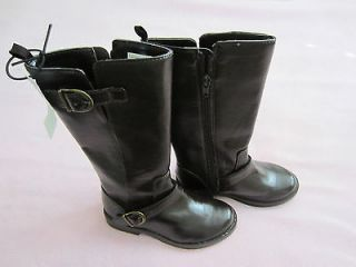 NWT Gap Kids Tall Brown Riding Boots with Buckle Trim Size 11 Girls