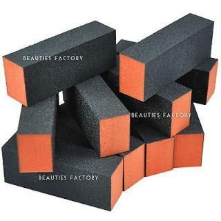 newly listed 10 x black nail buffer sanding block polish