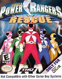 Power Rangers Lightspeed Rescue Nintendo Game Boy Color, 2000
