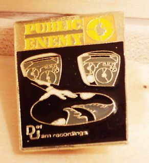 Public Enemy Hat Pin, Rap Jacket Pin Def Jam Recordings Pin Music