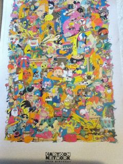2012 SDCC Comic Con Exclusive Cartoon Network 20th Birthday Poster