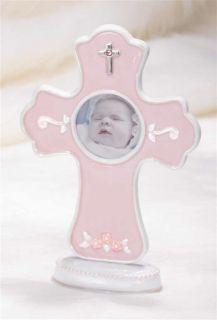 BLESSINGS PINK CROSS PHOTO FRAME FOR BAPTISM/CHRISTENING/SHOWER/BIRTH