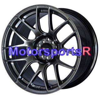 Chromium Black Concave Rims Staggered Wheels 03 04 07 08 Nissan 350z