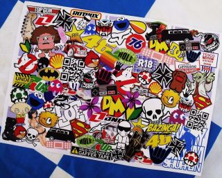 MATT A4 Size Surf Skate Skateboard Scooter Sticker Bombing Sheet Decal