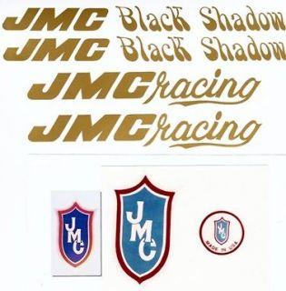 gold jmc black shadow vinyl bmx complete decal set new